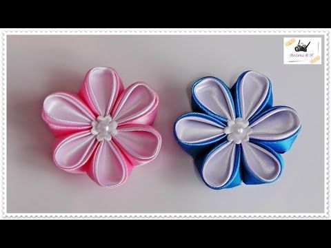 Today I Will Show You Fast And Easy Way To Make Bouquet Made From Ribbon Roses Needed Items Ha Ribbon Flower Tutorial Fabric Flowers Diy Kanzashi Flowers