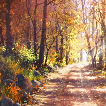 Autumn Shadows by Joseph Yarnell Acrylic ~ 40 x 30