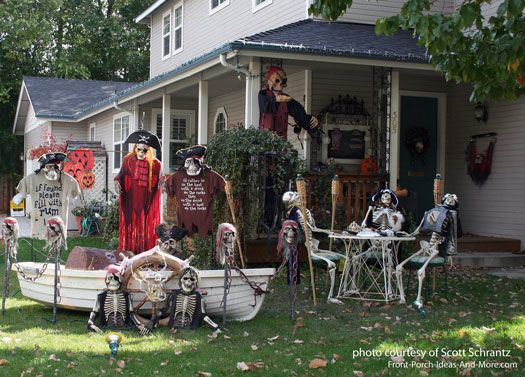30 Creepy Halloween Decor For Frontyard With Images Halloween Outdoor Decorations Homemade Halloween Decorations Easy Halloween Decorations
