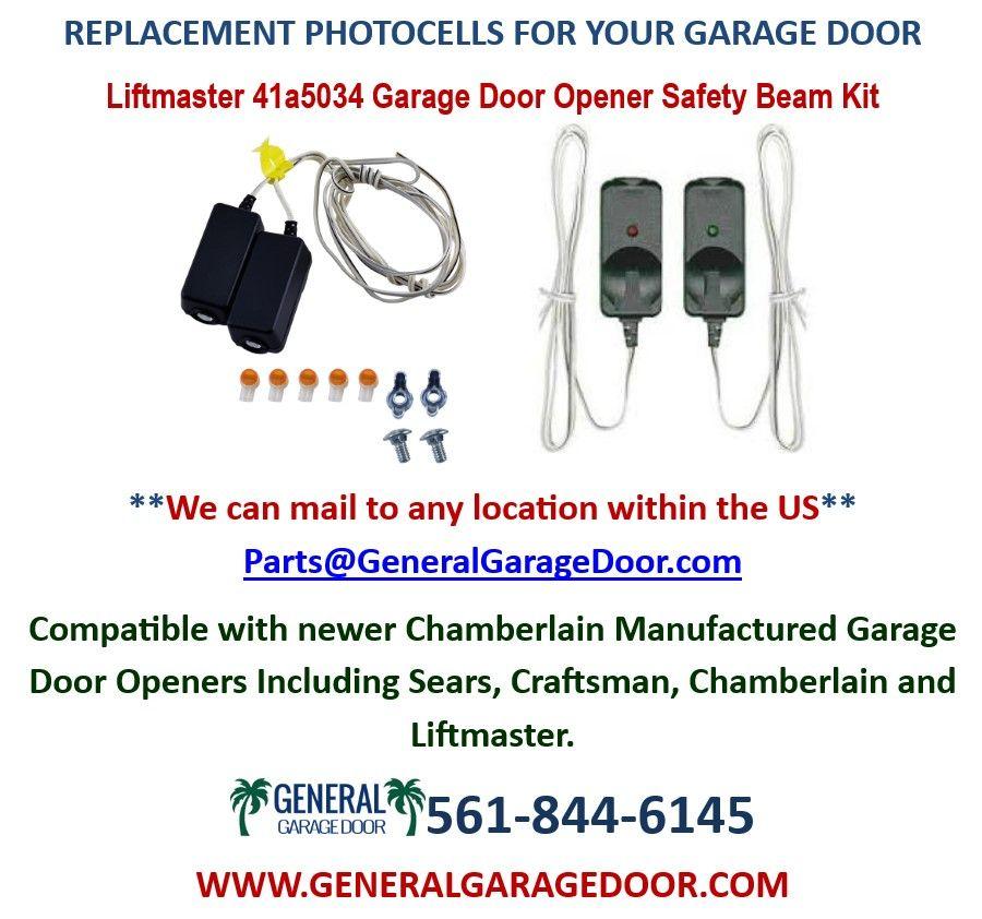 Garage Door Replacement Photocells Replacement Garage Door Sensors Liftmaster Safety Beam Kit 41a5034 In 2020 Garage Service Door Garage Doors North Palm Beach