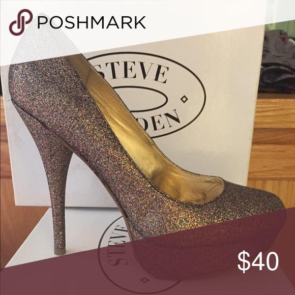 Steve Madden Heel Multi/Glittery Dress Heel. New. Never worn. No tags. Steve Madden Shoes Heels