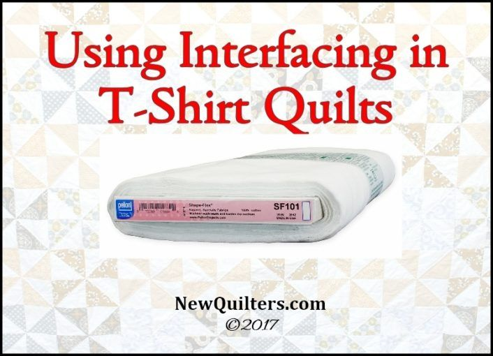 Using Interfacing To Make Better T Shirt Quilts Shirt Quilts