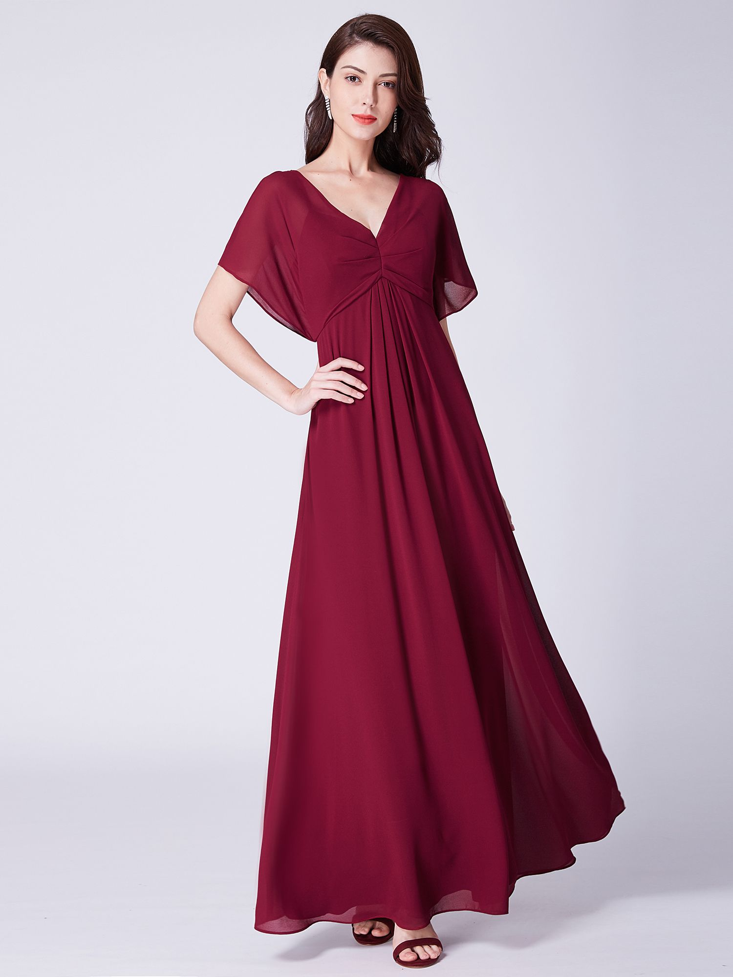 c21e6b6dafd46 Ever-Pretty Womens Vintage Floor-Length Short Sleeve Formal Evening Wedding  Mother of the Bride Dresses for Women 07421 Navy Blue US 4#Short, #Length,  ...
