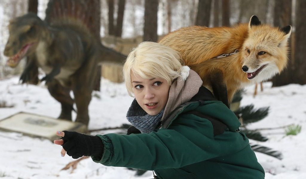 Zoo employee with Ralf, an 11-month-old domesticated red fox : UNBGBBIIVCHIDCTIICBG