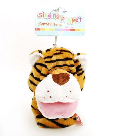 Look at this #zulilyfind! Musical Tiger Hand Puppet #zulilyfinds