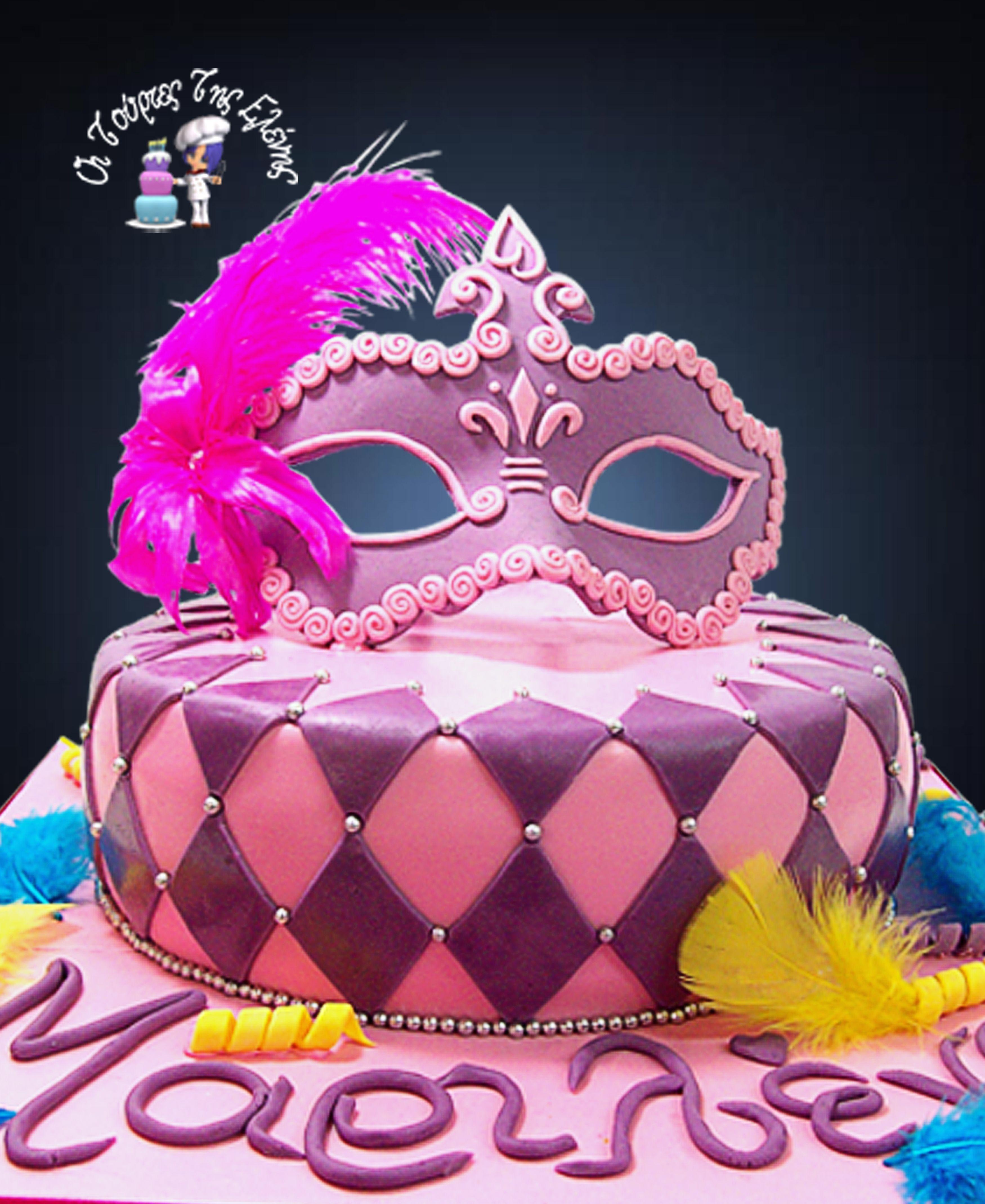 Μask cake. My cakes are chocolate sponge cake then drizzled with ...