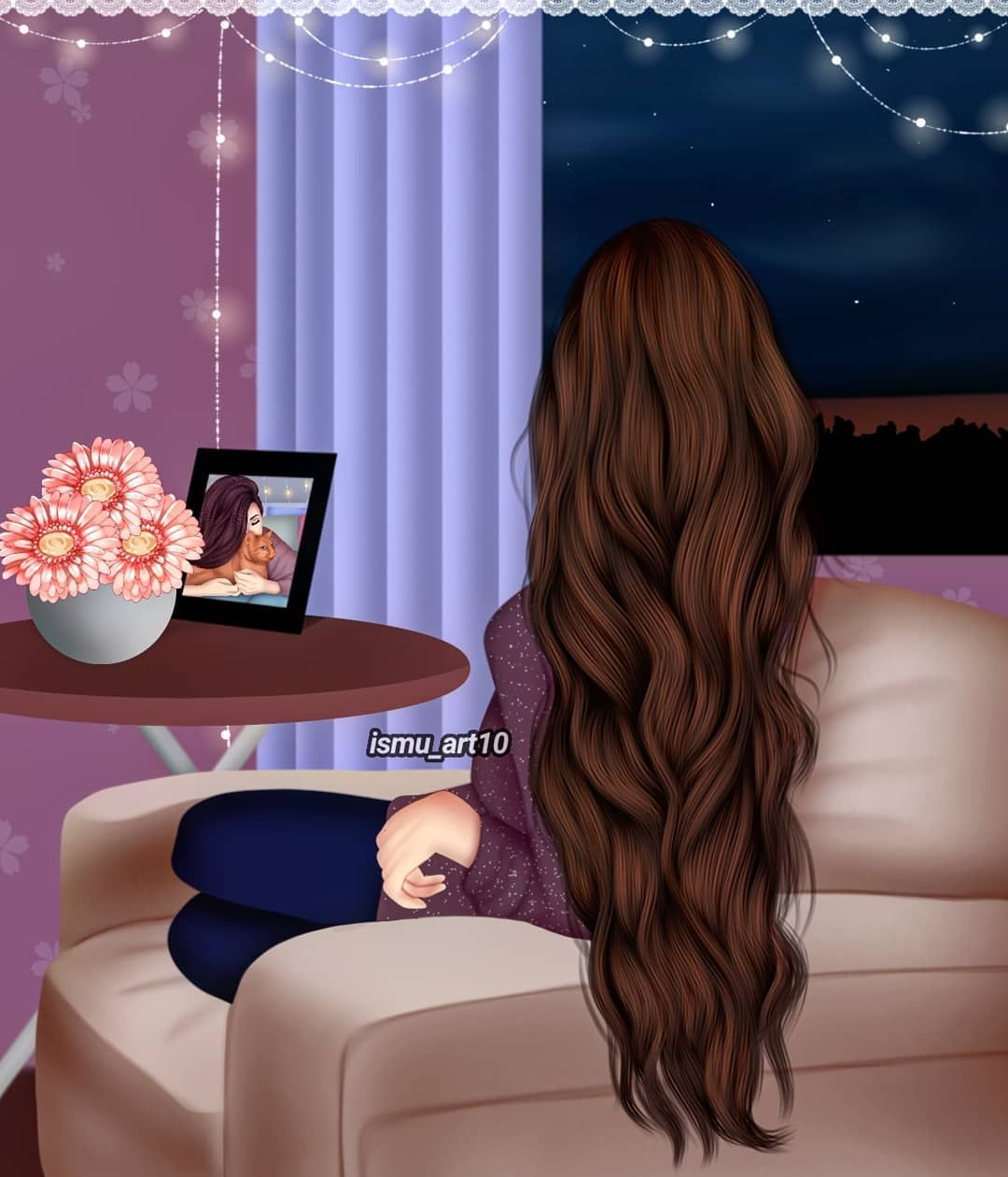 Long Hair Brown Color Beautiful Hot Cute Girl Wallpaper Lovely Girl Image Beautiful Girl Drawing