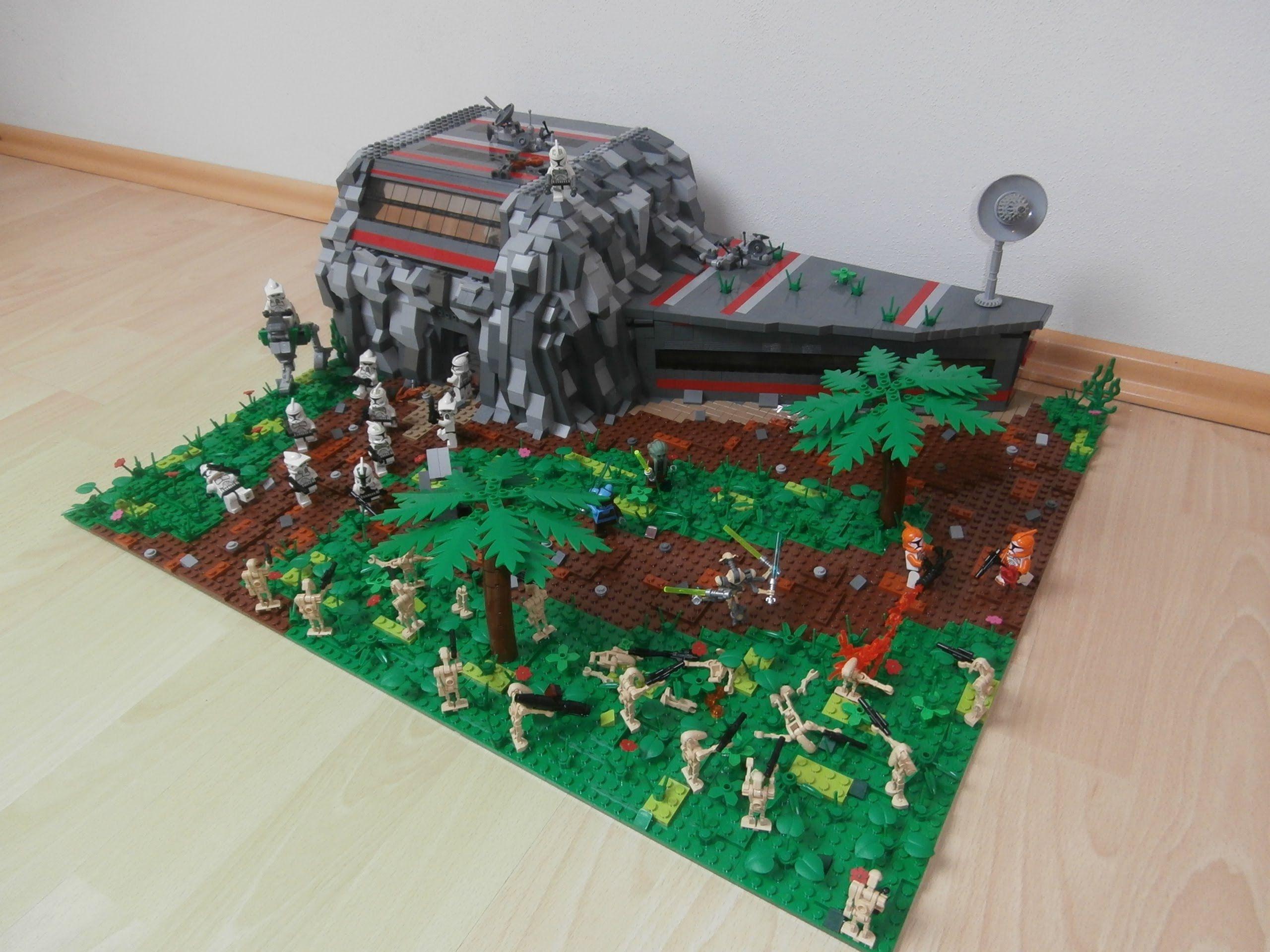 Lego Star Wars Clone Base Review Lego Starwars Moc Lego Star