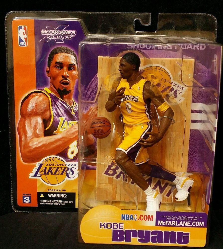 Kobe Bryant Los Angeles Lakers Yellow Jersey Mcfarlane Action ...
