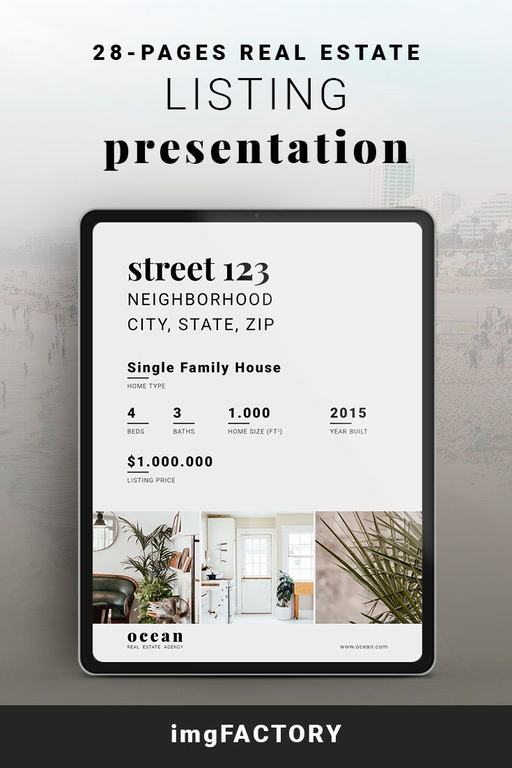 Canva Real Estate Listing Presentation Template, Real Estate Marketing, Listing Brochure, Home for Sale Flyer, Home Buyer Guide