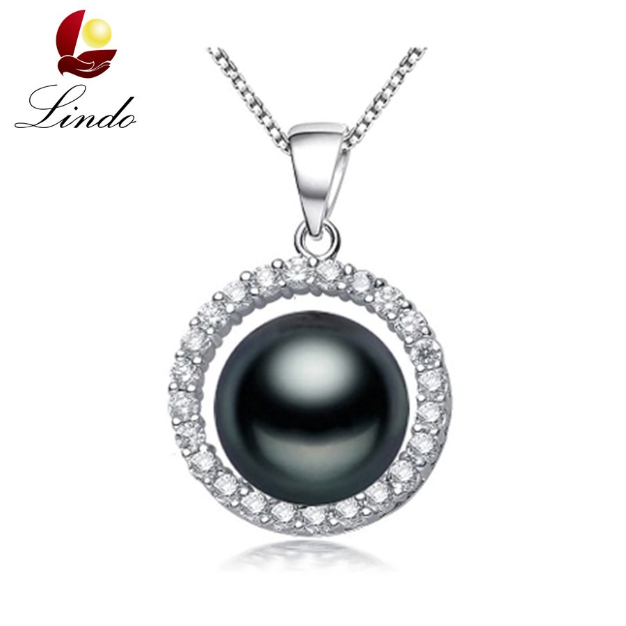15 types 925 sterling silver black pearl pendant necklace for women 15 types 925 sterling silver black pearl pendant necklace for women elegant freshwater pearl jewelry aaaa high quality with box aloadofball Image collections