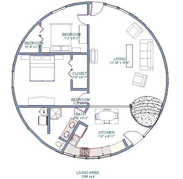 Dome Home Design Ideas: Gallery The Floor Plan For Our Basic Model. It Is A 2