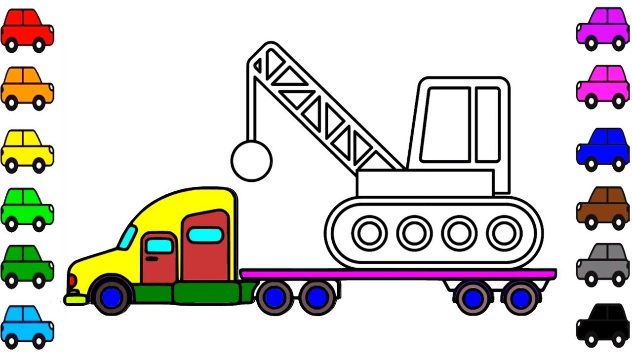 How To Draw A Wrecking Ball Crane Learn Colors For Kids Coloring Pag Coloring For Kids Learning Colors Coloring Pages For Kids