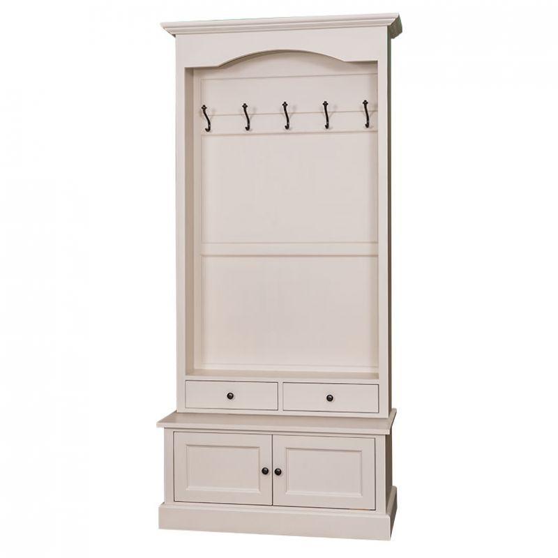 Garderobe, Eingangsbereich, Flur, Foyer, Möbel im Landhausstil, Einrichten, Wohnen, Farmhous Style, Vintage