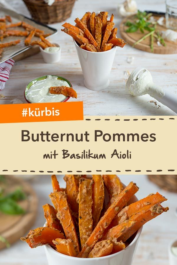 Butternut Pommes mit Basilikum Aioli