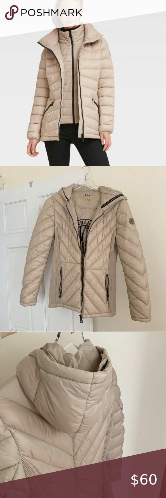 Dkny Beige Cozy Puffer Jacket Clothes Design Beige Puffer Beige Puffer Jacket [ 1740 x 580 Pixel ]