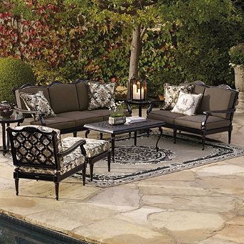 Glen Isle Seating In Midnight Finish Frontgate Outdoor Furniture Sets Outdoor Furniture Outdoor Furniture Collections