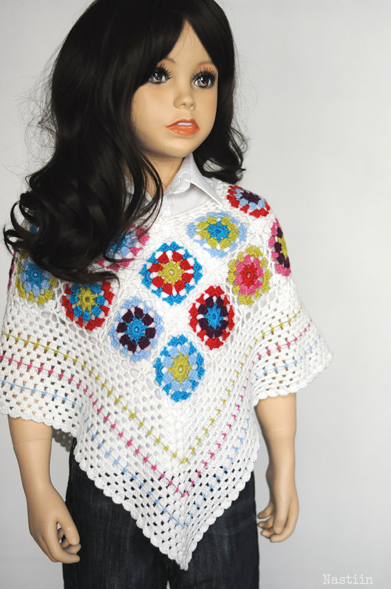Crochet Capelet Pattern Girl Poncho Wrap Pattern Crochet Cape