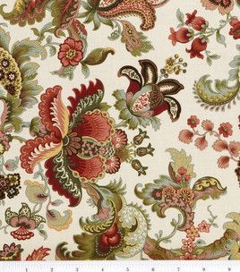 Wallpaper Designer Traditional Jocobean Floral Multi Color Tapistry on Tan