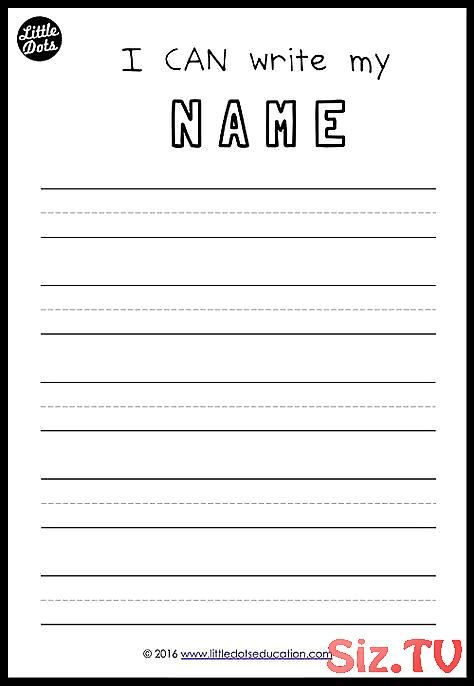 18+ Name writing worksheets for pre k Popular