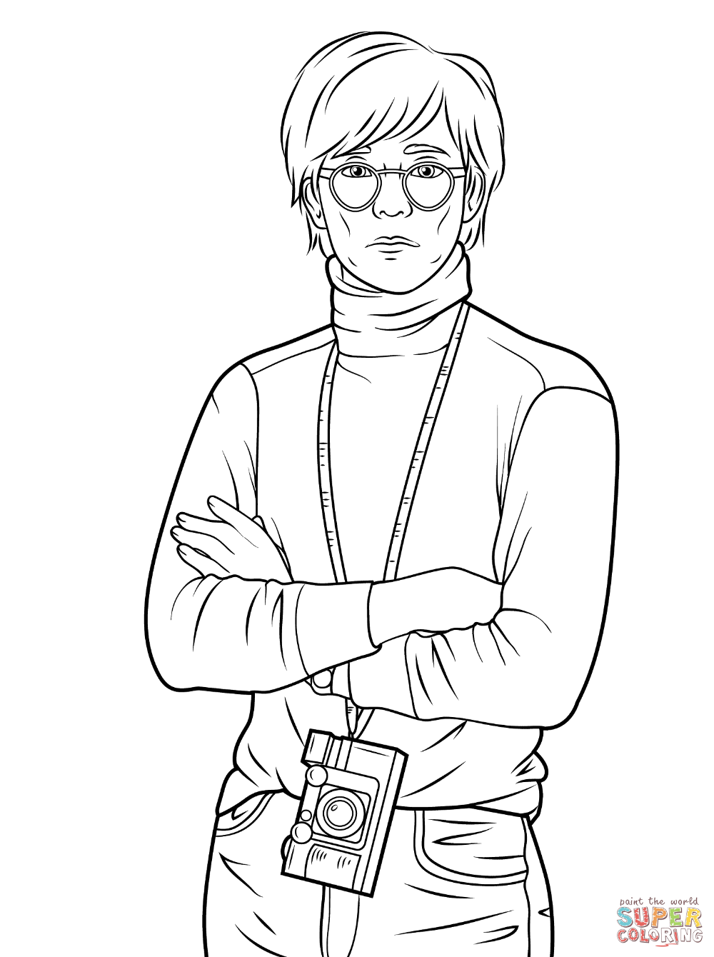 - Andy Warhol Coloring Page Free Printable Coloring Pages In 2020
