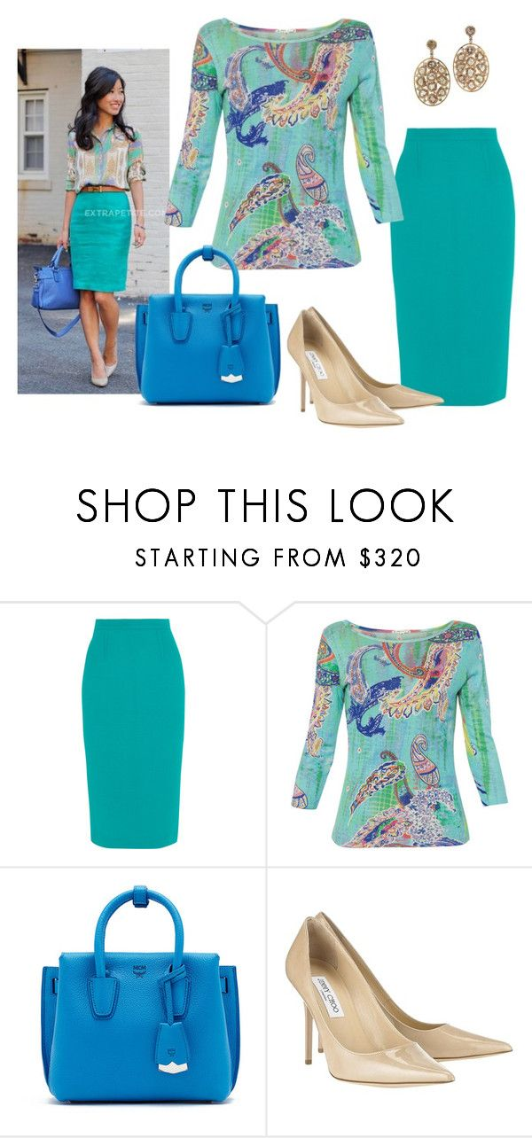 """""""Touch of paisley"""" by sassyladies ❤ liked on Polyvore featuring Roland Mouret, Pashma, MCM and Jimmy Choo"""