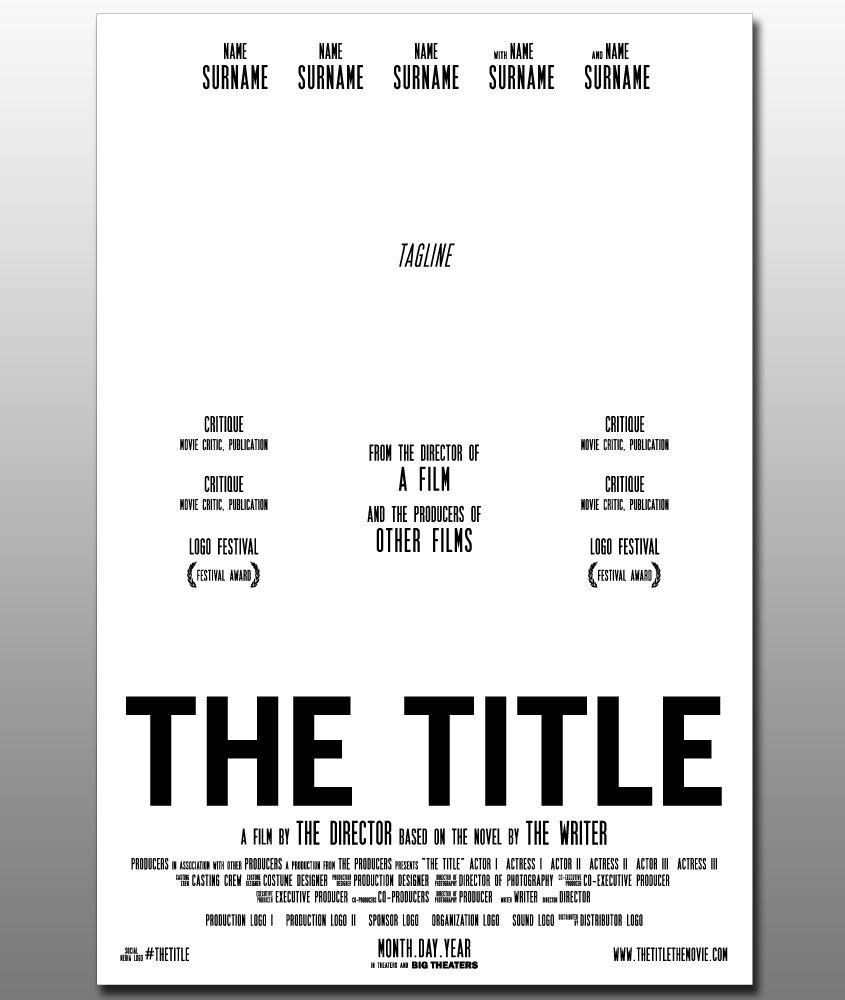 film poster template - Google zoeken | film | Pinterest
