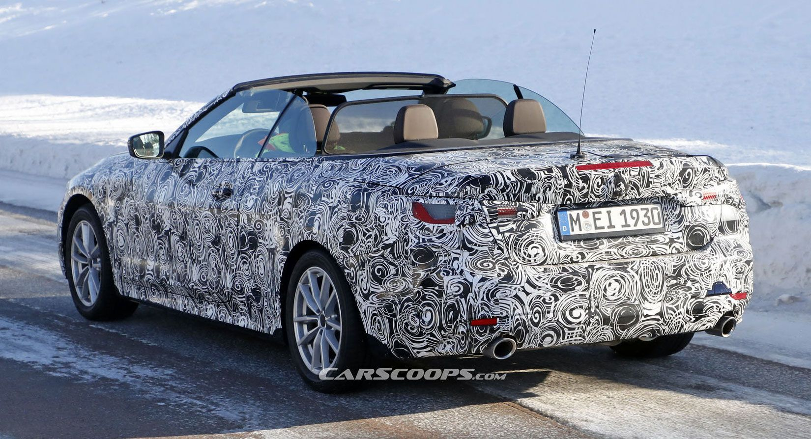 New Bmw 4 Series Convertible Blows Its Top Off In Latest Spy Shots