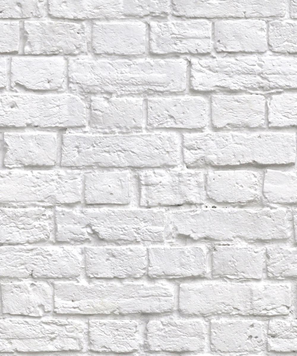 Soft White Bricks Wallpaper, Realistic Accurate Bricks