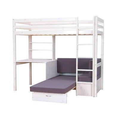 Thuka Hochbett 90x200 Kiefer Massiv Bett Kinderbett Gaestebett