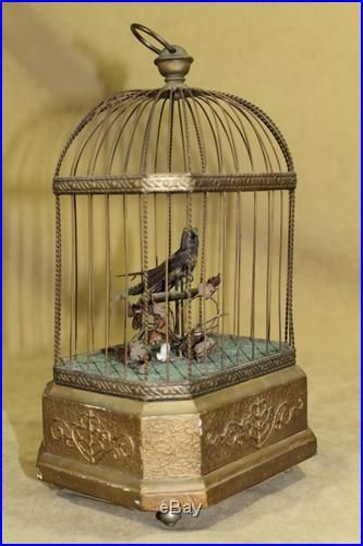 Antique German Mechanical Automaton Singing Song Bird Cage Music Box Antique Music Box Music Box Vintage Music Box
