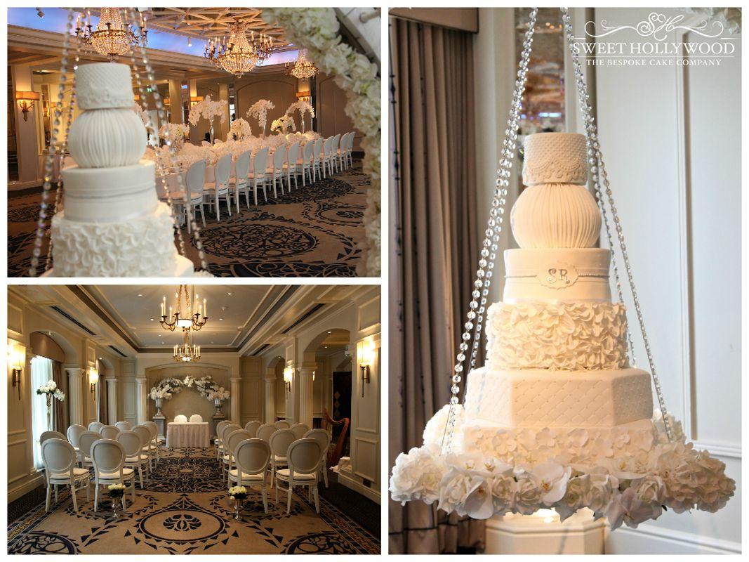 Beautiful Is This Halo Hanging Wedding Cake