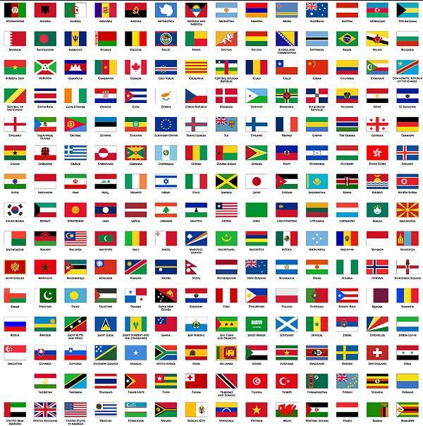 Plane Countries In The World The National Flag And Regional Flag Over Millions Vectors Stock Photos Drapeaux Du Monde Carte Du Monde A Imprimer Drapeau Pays