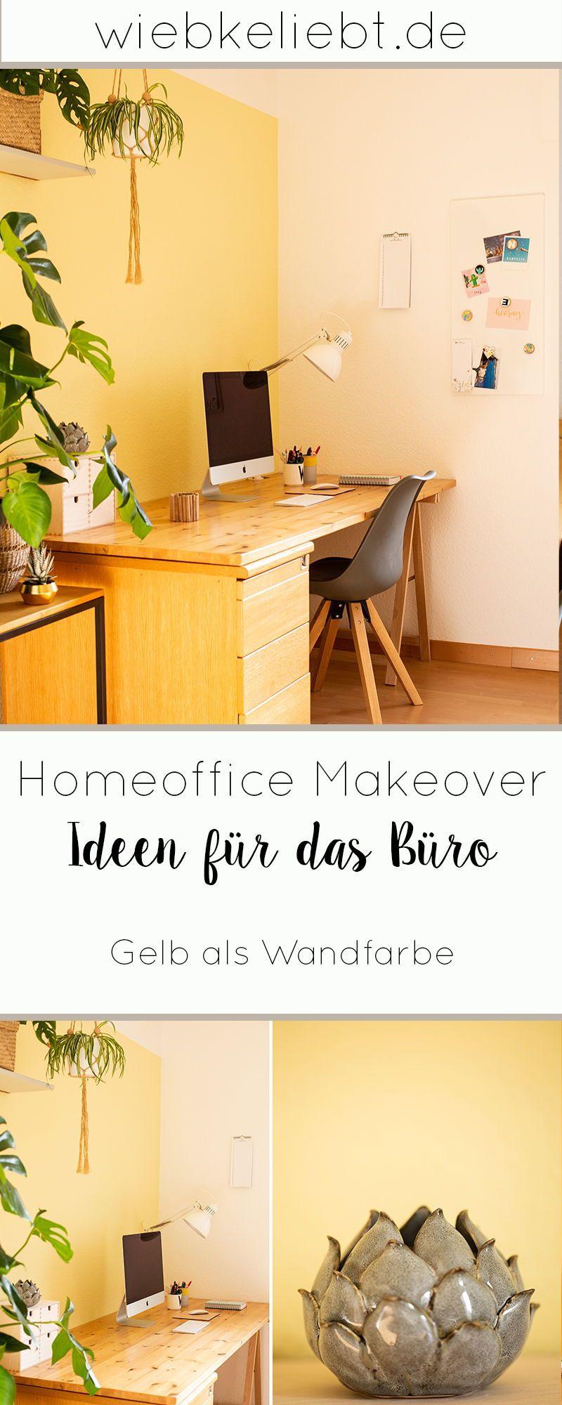DIY Homeoffice Makeover Mit frischem Anstrich neu