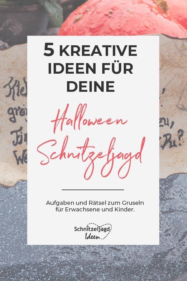 Gruselige Halloween Schnitzeljagd
