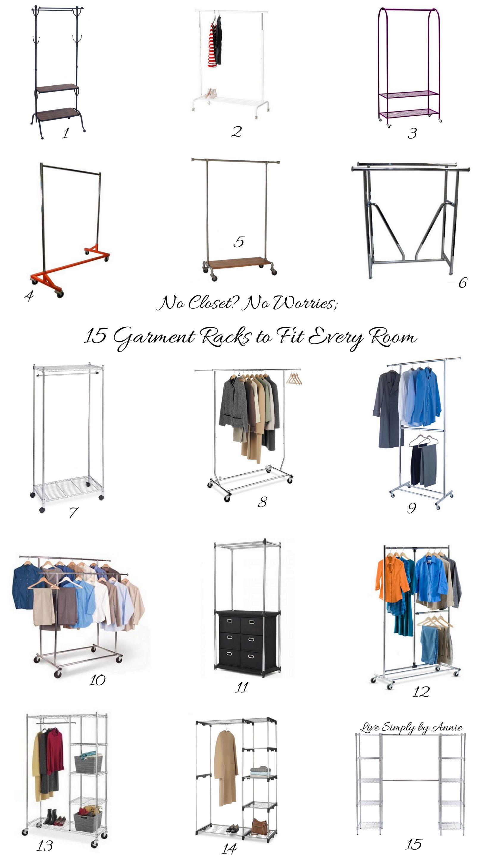 The no closet garment rack closet 19 winning examples - Room with no closet ...