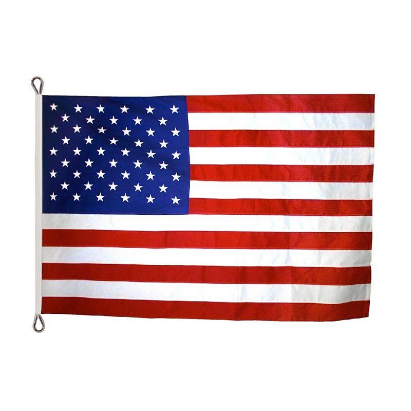 American 4x6 Flag Nylon Sewn Stripes Dense Bright White EMBROIDERED STARS