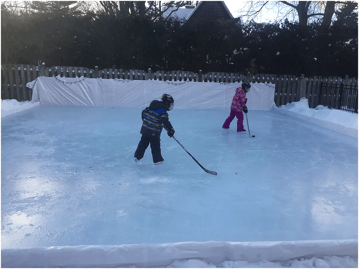 10 Ways How to Build a Backyard Ice Rink Ideas | Backyard ...