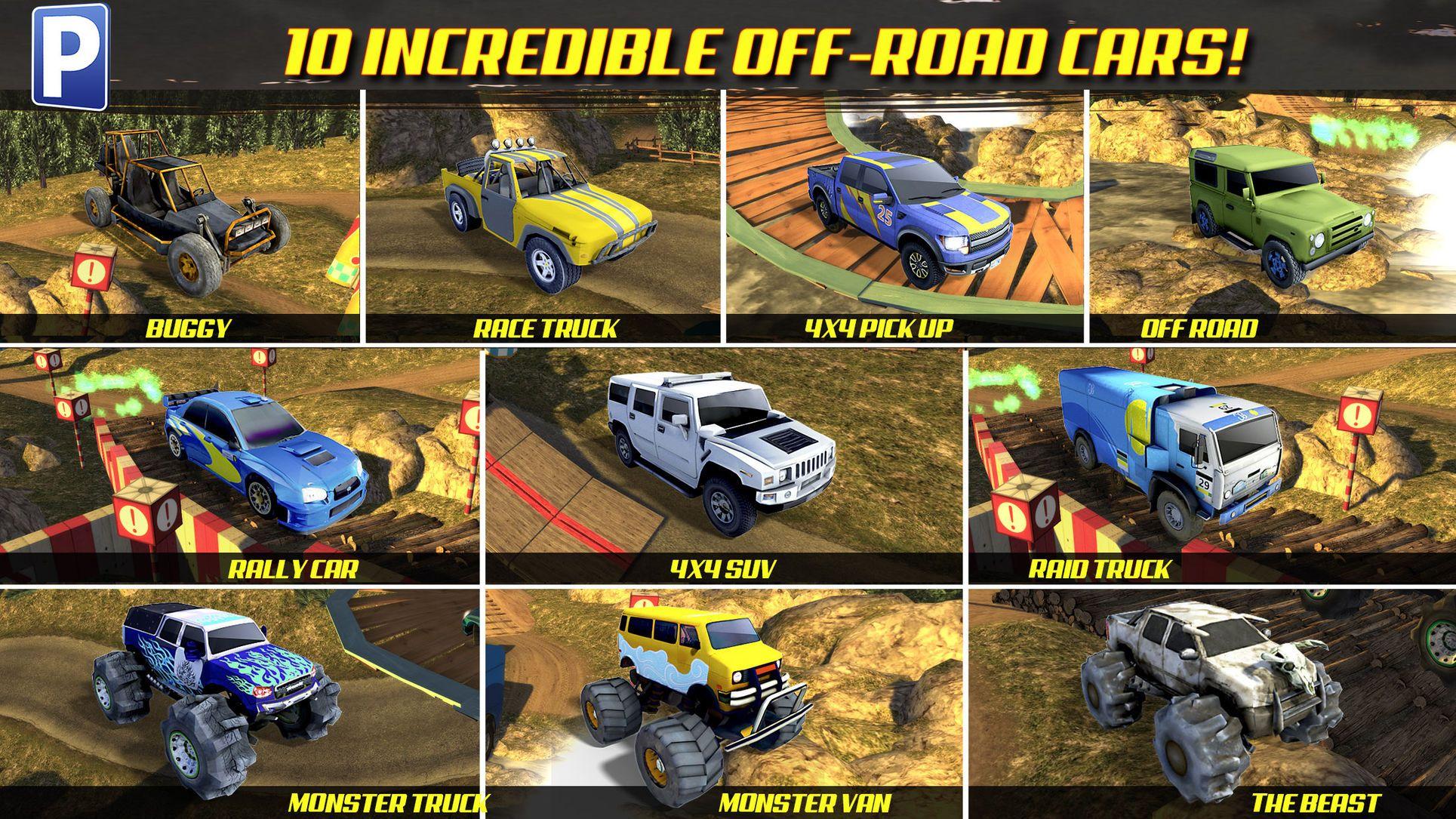 Offroad 4x4 Truck Trials Parking Simulator A Real Car Stunt