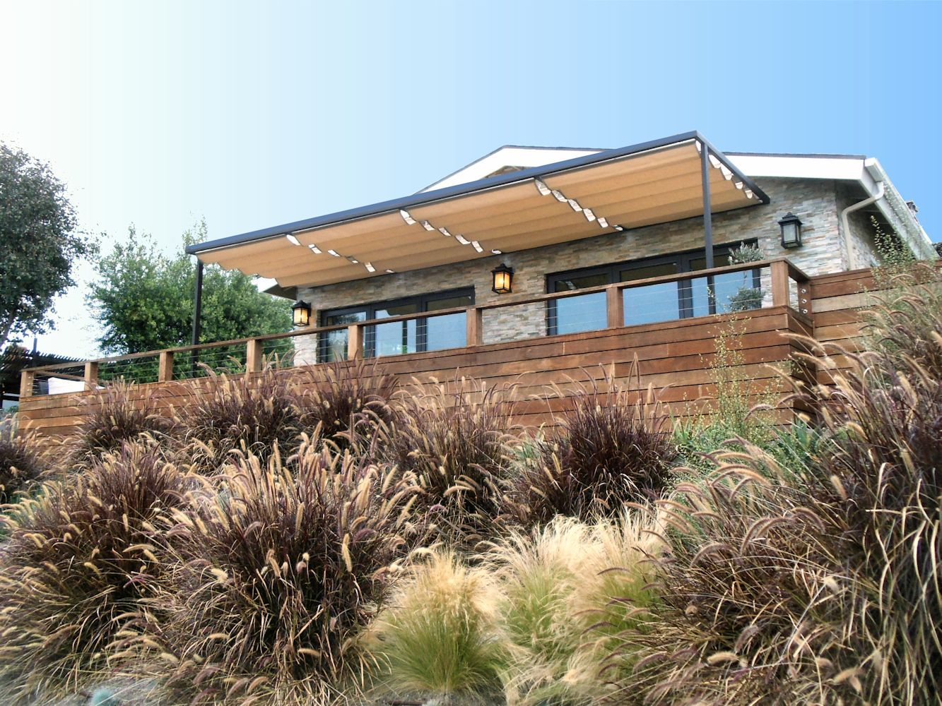 Slide Wire Cable Awnings | Superior Awning | Terasz | Pinterest ...