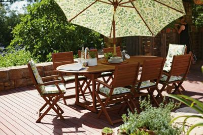 peru 8 seater extending garden furniture set homebase relax in