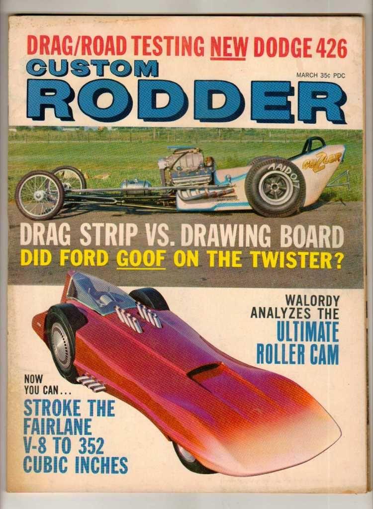 Custom Rodder March 1964 Classic Car Magazine Hot Rod Drag Racing ...