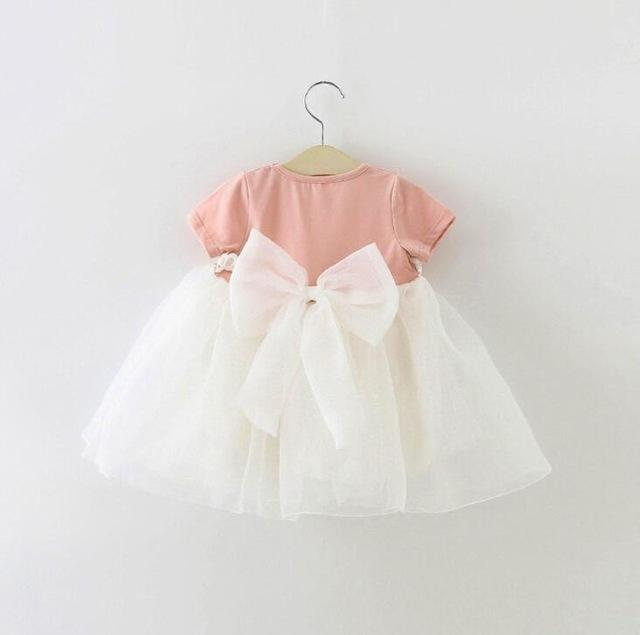 af0551dfe351 Baby Girl Dress 1 year birthday dress lace infant baptism bow-knot ...