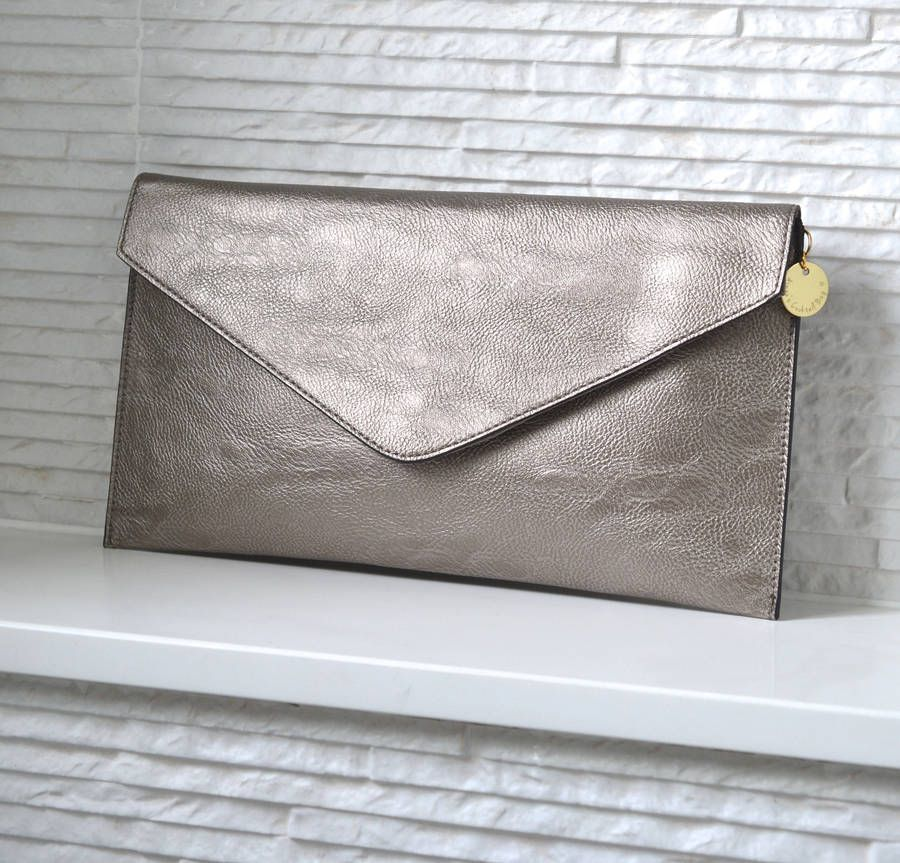 b746979f34 I ve just found Personalised Metallic Clutch Bag. A gorgeous clutch bag in  beautiful muted pewter or pale gold