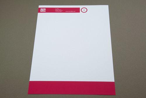 Modern Bike Messenger Letterhead Modern - construction company letterhead template