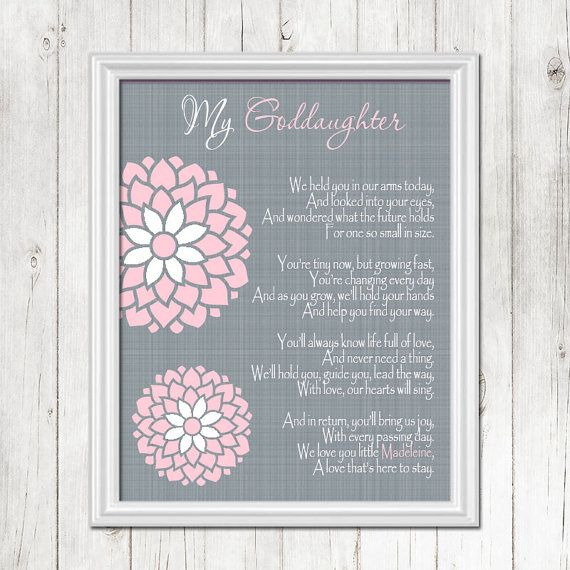 goddaughter baptism wall art christening gift by cleopatraspearls
