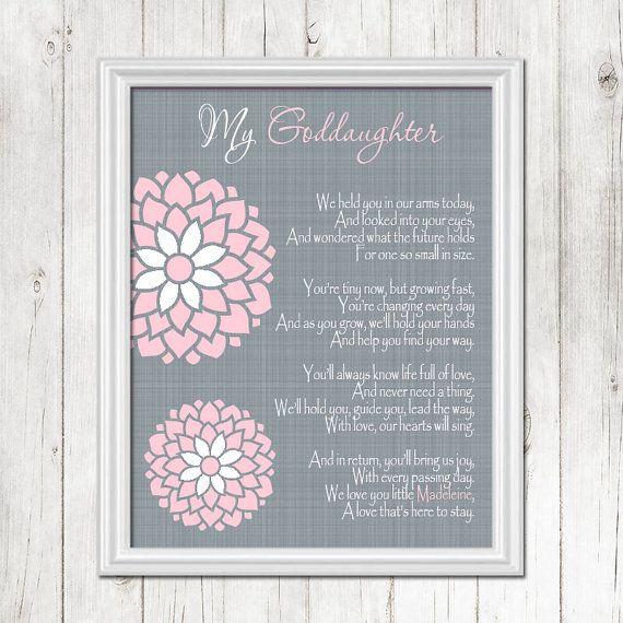 Birthday Quotes Goddaughter: GODDAUGHTER Baptism Wall Art, Christening Gift, Gift For