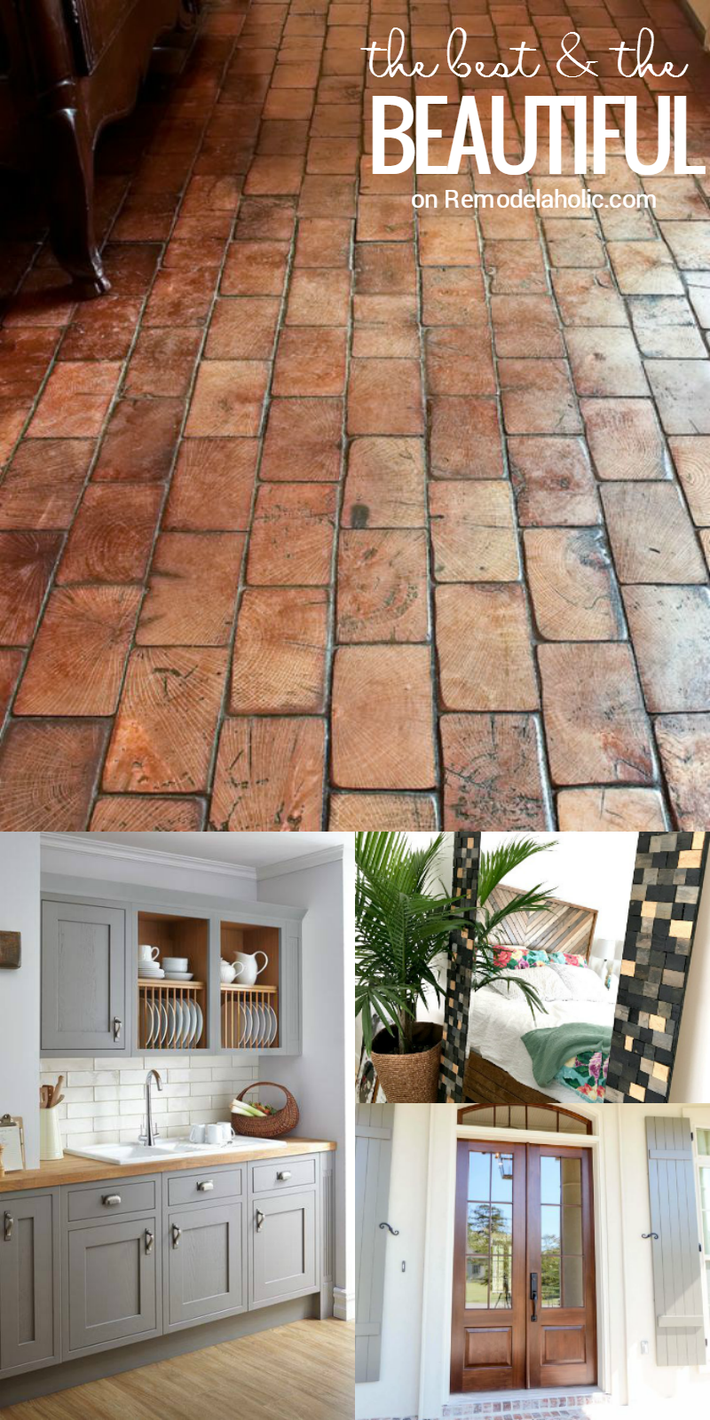 Friday Favorites - wood block floors, farmhouse style pantry and ...