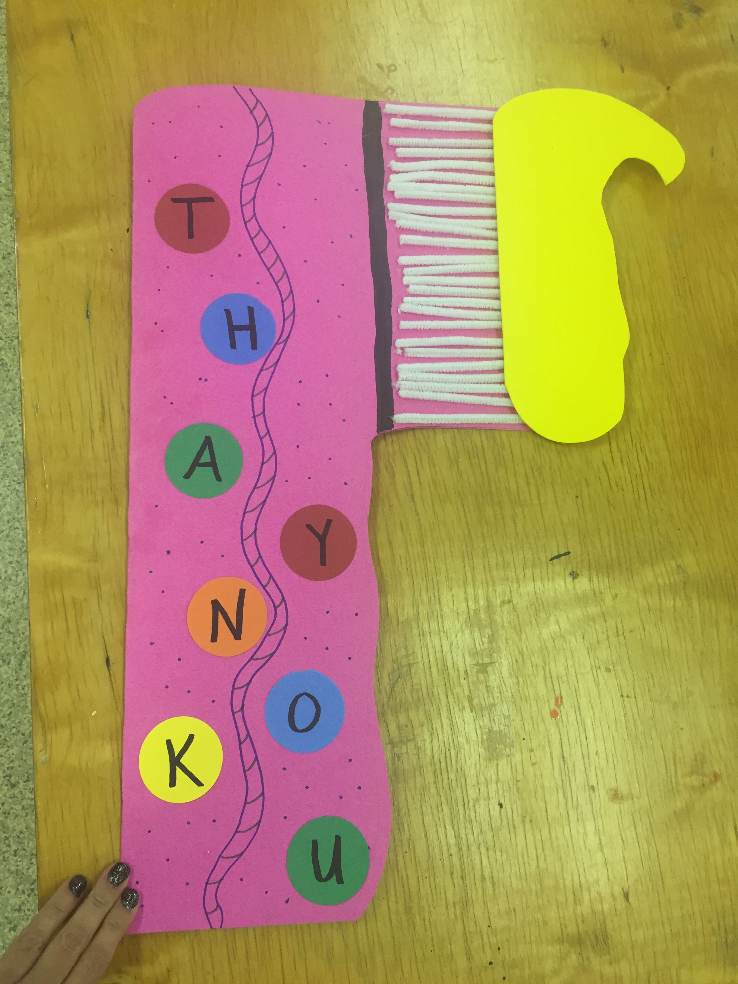 Thank You Card For A Dentist From Preschool Thanksgiving Activities For Kids Dentist Crafts Dentist