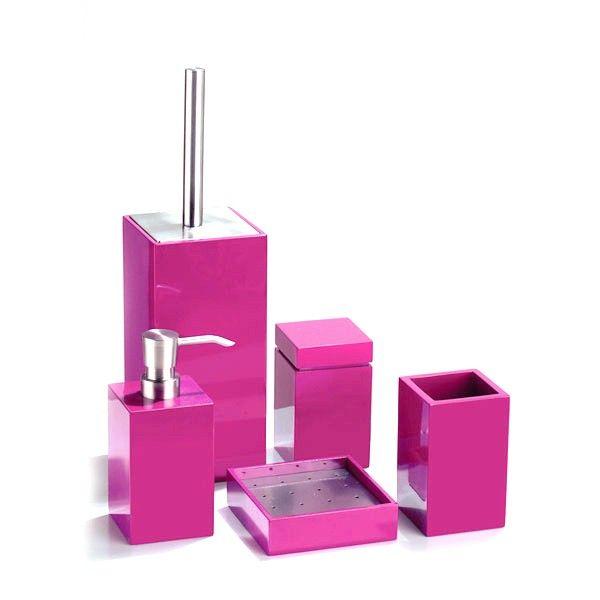 accessoires salle de bain rose fushia recherche google d co maison pinterest pink baths. Black Bedroom Furniture Sets. Home Design Ideas